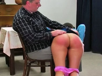 Charlie has disobeyed her teacher yet again and is called into the headmasters office to be disciplined.  The headmaster pulls her across his lap, lifts up her skirt and proceeds to give her a good old-fashioned spanking.  After a few swats of his hand, t