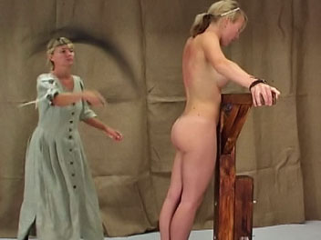 Victorian lashing1. Lucia gets a stern lashing for showing a young man her thigh in this hot anus film.  The headmistress orders Lucia to remove her dress, ties her to the whipping post and uses a whip to turn Lucias back a rosy pink.  Lucia cries out with every lashing and v