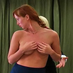 Nicoleta has been caught wearing lipstick to class and is called into the headmistress office for punishment.  Nicoleta removes her shirt and bra, places her hands above her head and waits for her whipping to begin.  Nicoleta cries out with every lashing